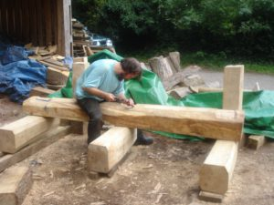 carving leigh woods bench