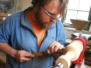 woodturning a naked grouse whiskey bottle