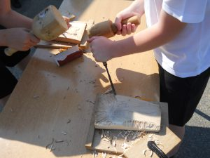 Teaching woodcarving to children and young people