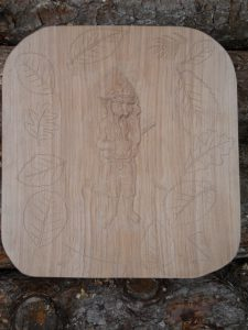oak relief carving