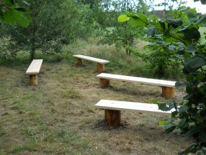 benches made from larch