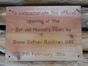 Esther Rantzen plaque