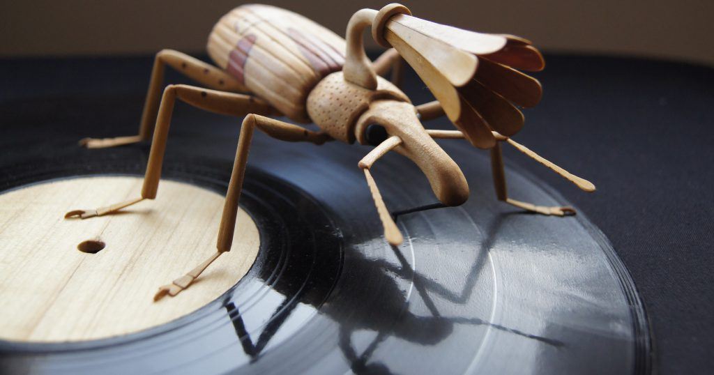 Sculptures for exhibitions-gramophone weevil