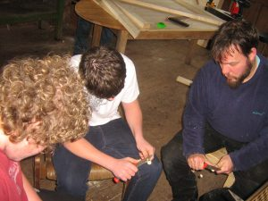 teaching young people woodcarving in Bristol