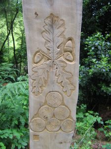 carved marker post