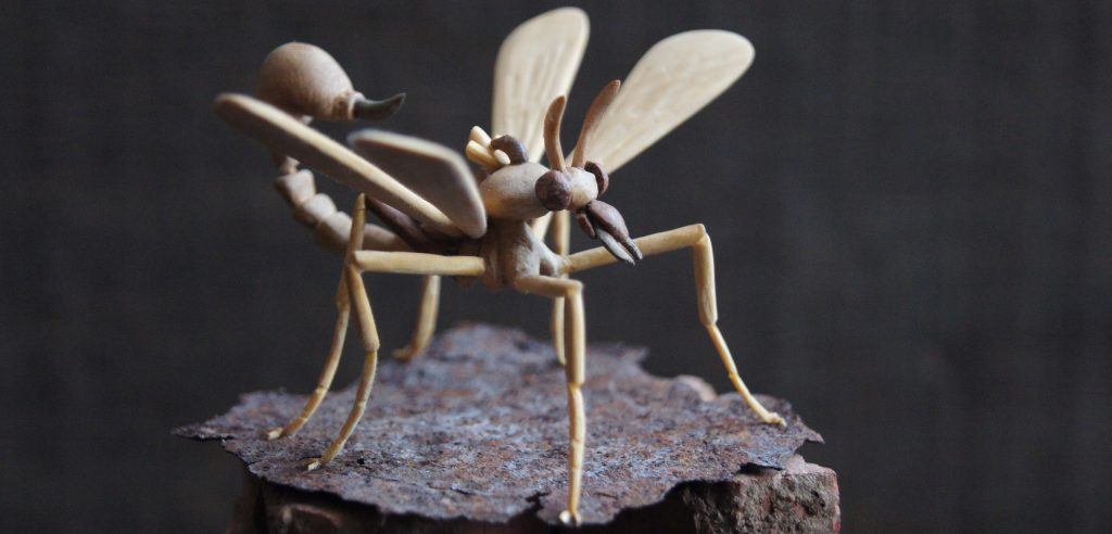 scorpion fly sculpture meatinsecta speculative evolution